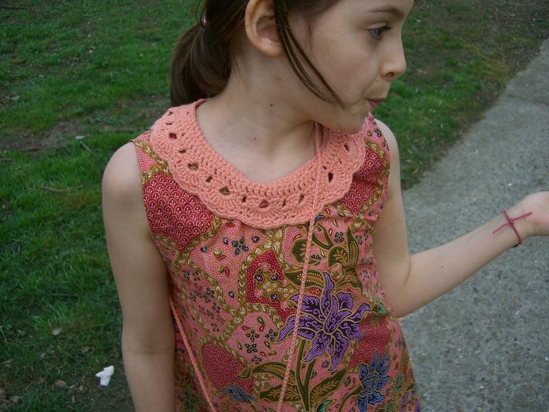 robe trapèze col crochet