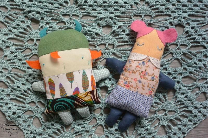 shawl skull poupées à coudre