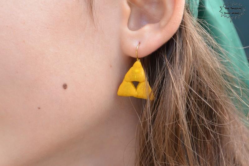 boucles d'oreilles triforce