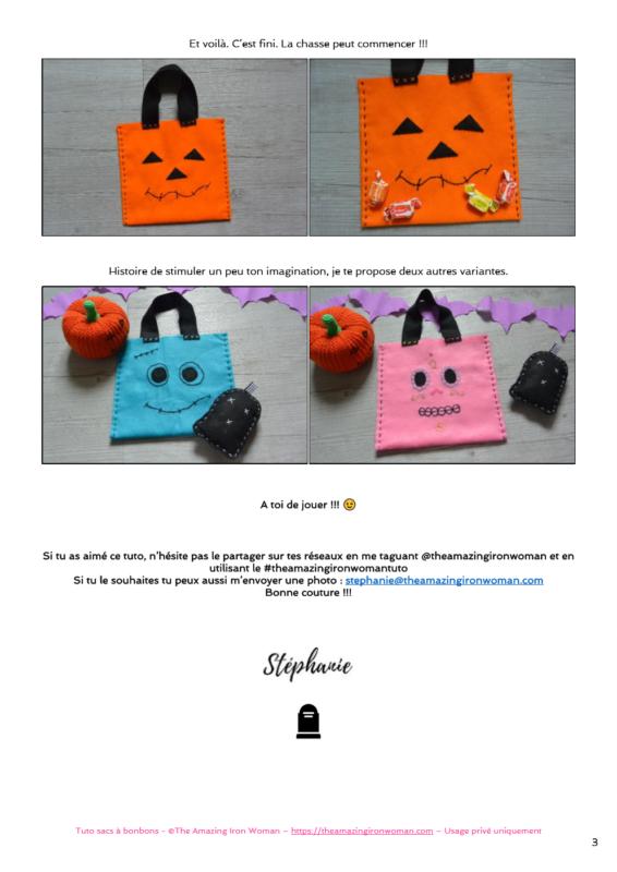 Tuto petits sacs à bonbons Halloween