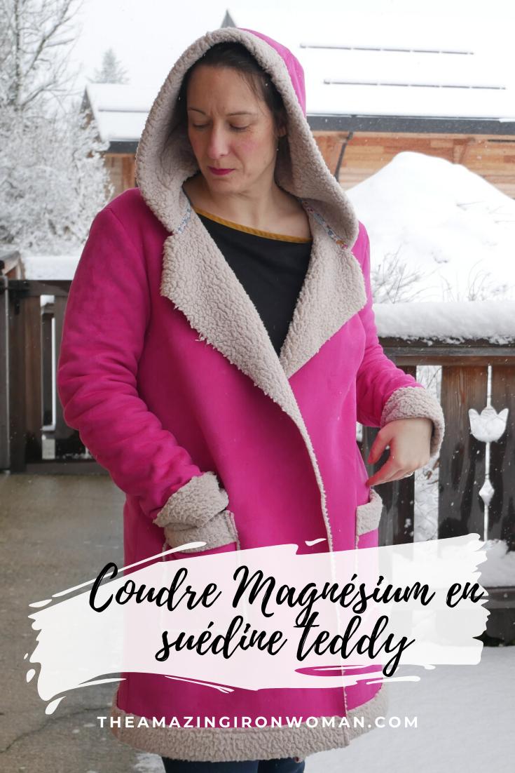 Coudre manteau Magnésium Ivanne S suédine teddy The Amazing Iron Woman