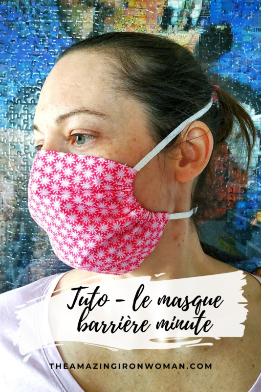 Masque barrière ultra rapide tuto - the amazing iron woman