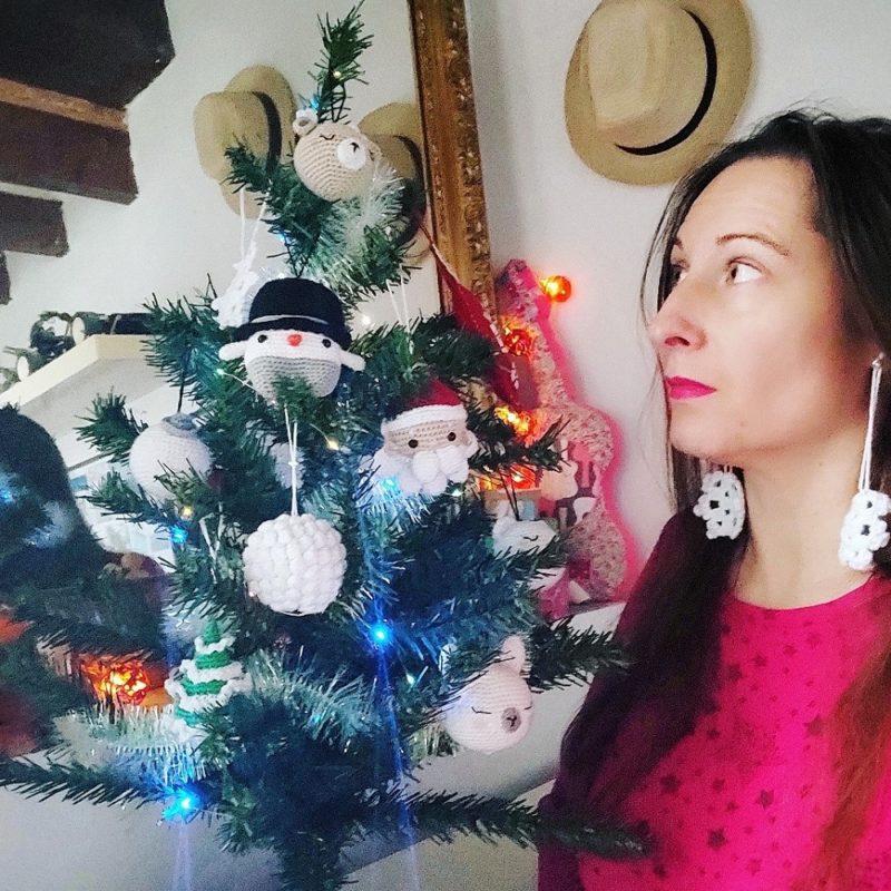 Décorations de Noël crochetées boules ligne rétro sapin