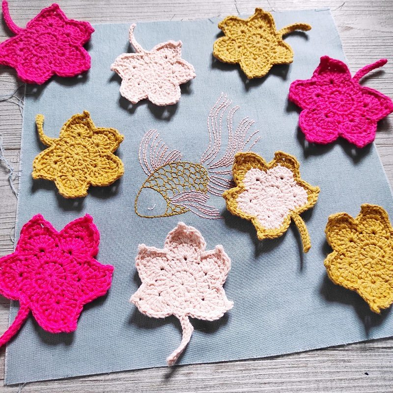 feuilles d'érables crochet the amazing iron woman